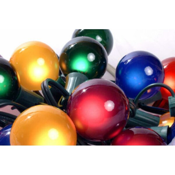 Satin G50 Globe 15 Light String Lighting (Set of 15) by The Holiday Aisle