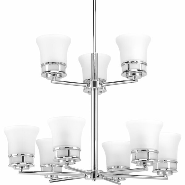 Tashina 9 - Light Shaded Tiered Chandelier by Red Barrel Studio Red Barrel Studio