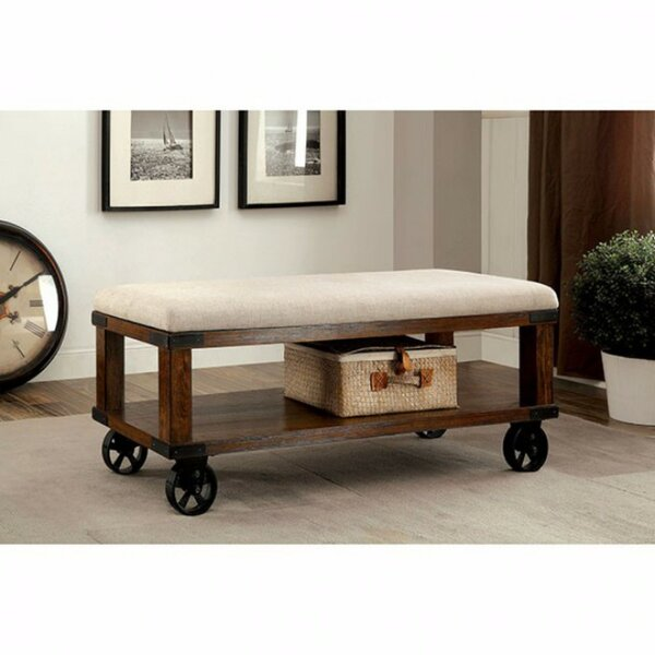 Aarons Industrial Upholstered Entryway Bench by Gracie Oaks