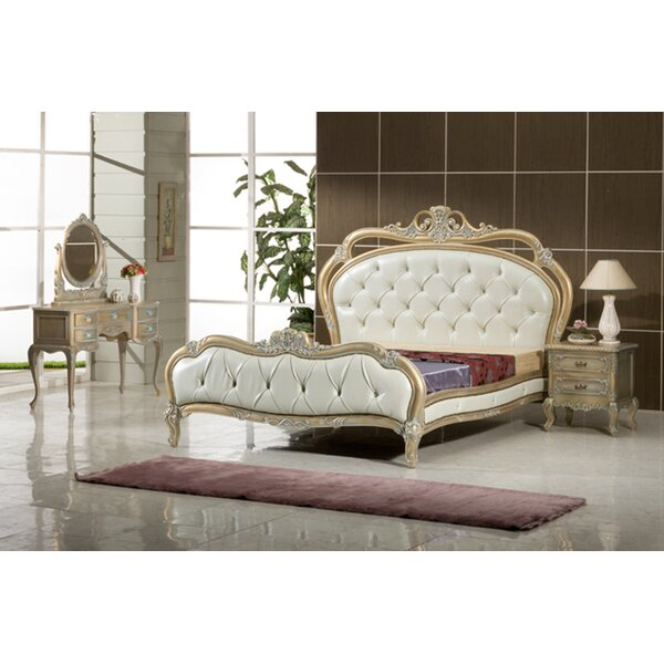 Ely French Queen Standard Solid Wood 5 Piece Bedroom Set by Astoria Grand