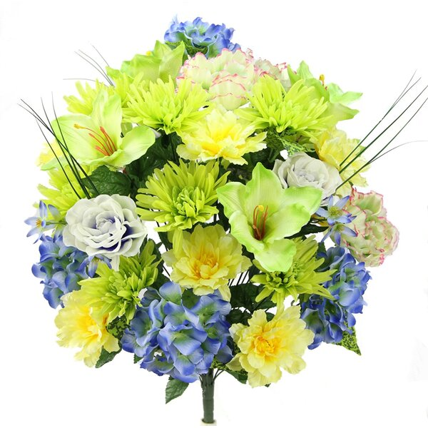 36 Stems Artificial Full Blooming Peony Mixed Floral Arrangement by Winston Porter