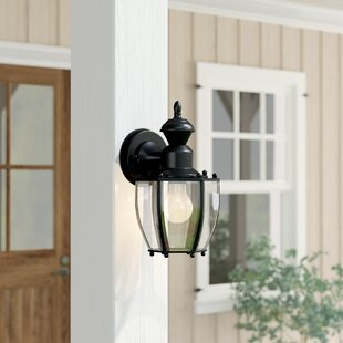 Online Reviews Tharpe 1-Light Outdoor Wall Lantern By Three Posts