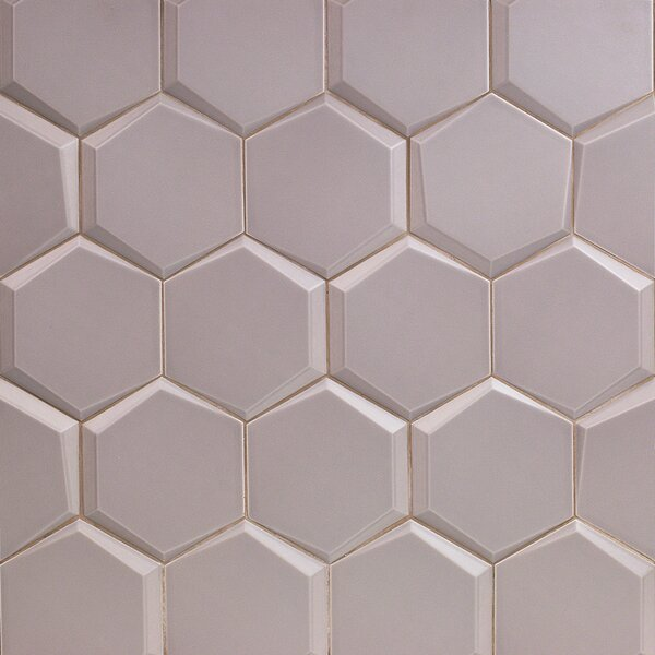 Bethlehem Hexagon 6 x 7 Ceramic Field Tile in Nude by Splashback Tile
