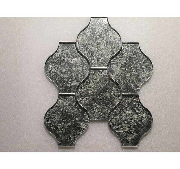 Lanterna Wall 12 x 12 Glass Mosaic Tile in Green/Silver Clear by Seven Seas