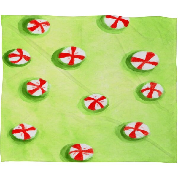 Rosie Brown Christmas Candy Plush Fleece Throw Blanket by Deny Designs