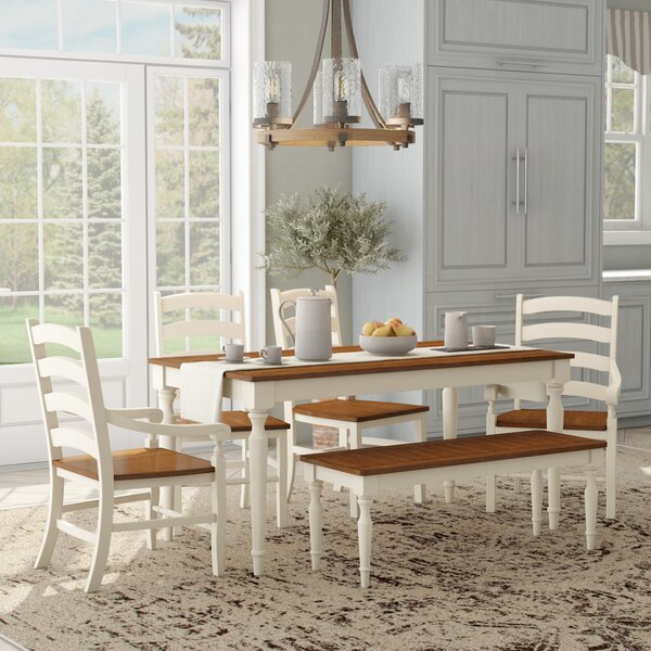 Coffey 6 Piece Dining Set by August Grove
