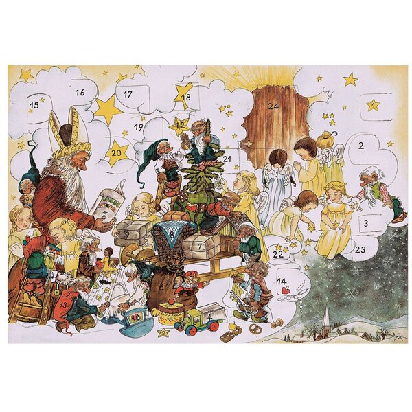 Korsch Santa with Elfs and Angels Advent Calendar by Alexander Taron