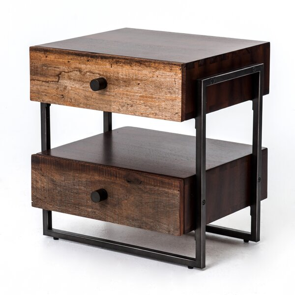 Crescent End Table by 17 Stories