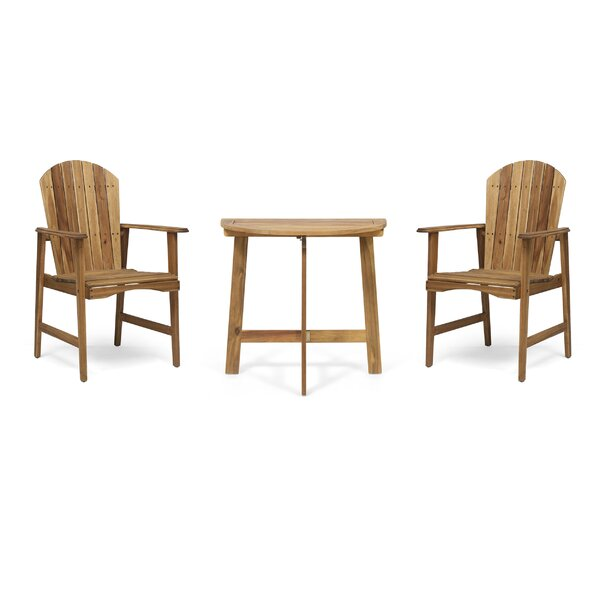 Carlo Outdoor Half-Round 3 Piece Seating Group by Breakwater Bay