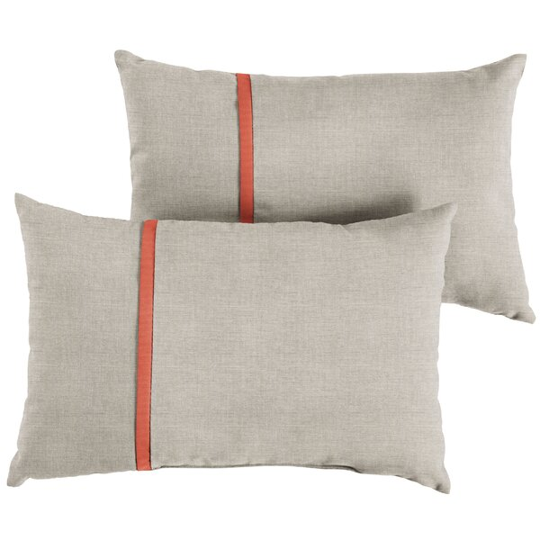 Maggio Indoor/Outdoor Lumbar Pillow (Set of 2) by Gracie Oaks