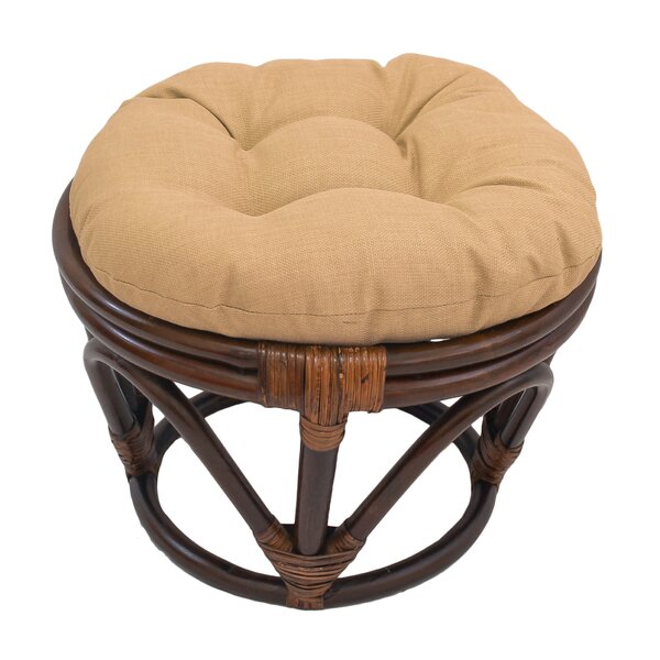 Indoor/Outdoor Ottoman Cushion by Bay Isle Home
