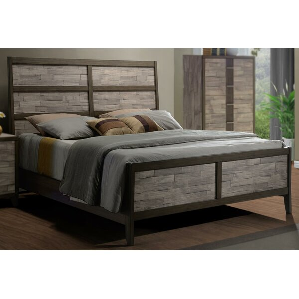 Rodrigues Melamine Sleigh Bed by Union Rustic