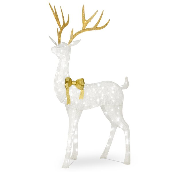 Pre-Lit Crystal Standing Buck Lighted Display by The Holiday Aisle