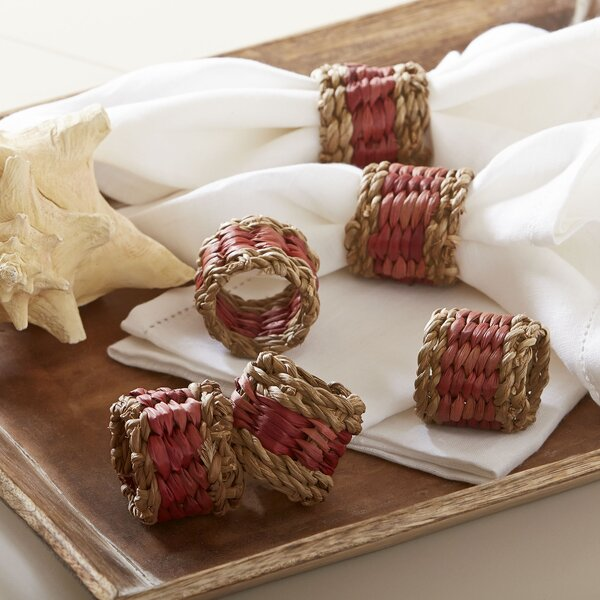 Tennille Woven Napkin Rings (Set of 6) by Birch Lane™