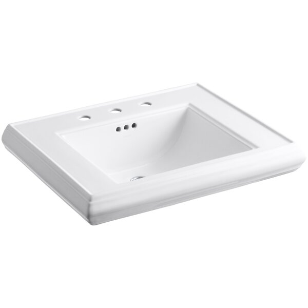 Memoirs® Ceramic 27 Pedestal Bathroom Sink with Overflow by Kohler