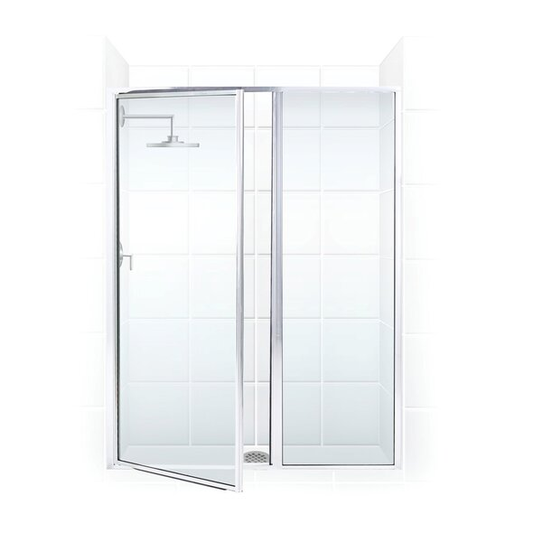 Legend Series 44 x 69 Hinged Framed Shower Door with Inline Panel by Coastal Shower Doors