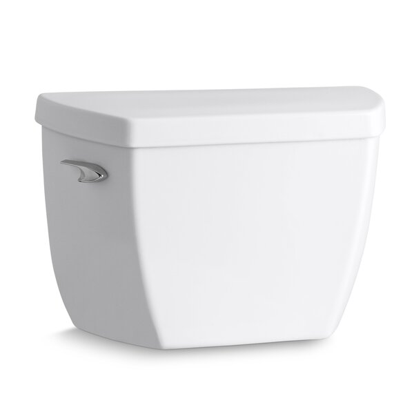 Highline Classic 1.0 GPF Toilet Tank with Tank Cover Locks and Left-Hand Trip Lever by Kohler