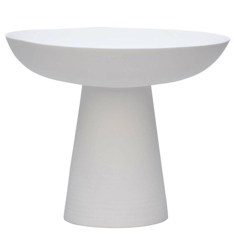 Tall white Fruit Bowl