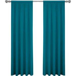 Abdera Solid Sheer Rod Pocket Curtain Panels (Set of 2)