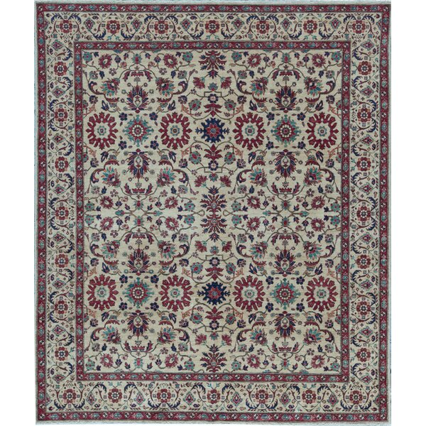 Aryana Oriental Hand-Knotted Wool Ivory Area Rug