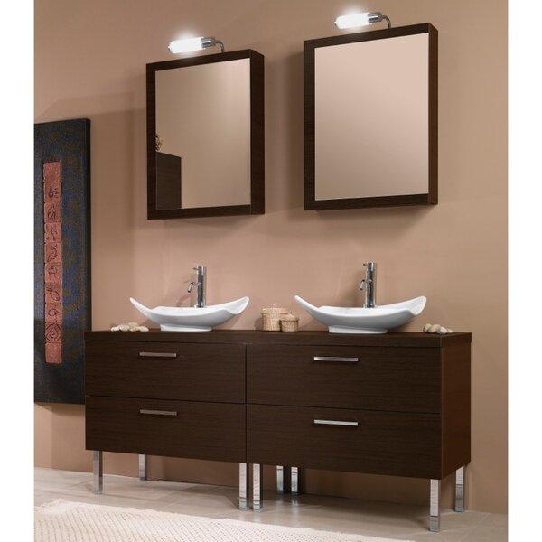 Aurora 61 Double Bathroom Vanity Set with Mirror by Iotti by Nameeks
