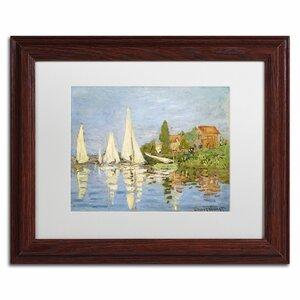 Regatta at Argenteuil by Claude Monet Framed Painting Print by Trademark Fine Art