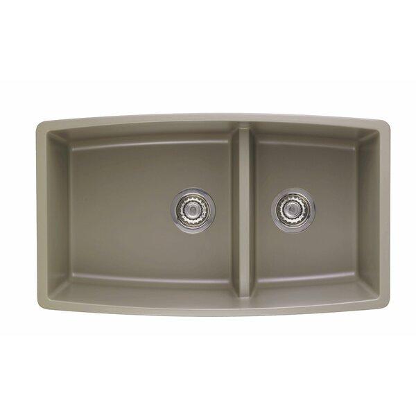 Performa 33 L x 19 W 2 Basin Undermount Kitchen Sink by Blanco
