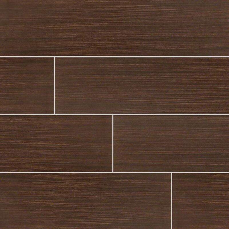 Msi Sygma Chocolate 6 X 24 Ceramic Wood Look Tile In Brown Wayfair