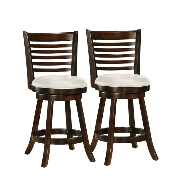 Leakey 24 Swivel Bar Stool (Set of 2) by Latitude Run