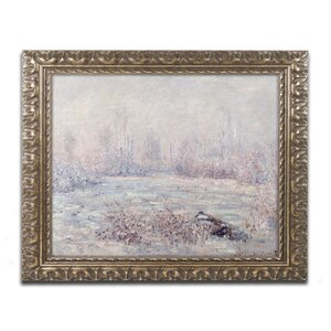 Frost near Vetheuil by Claude Monet Framed Painting Print by Trademark Fine Art