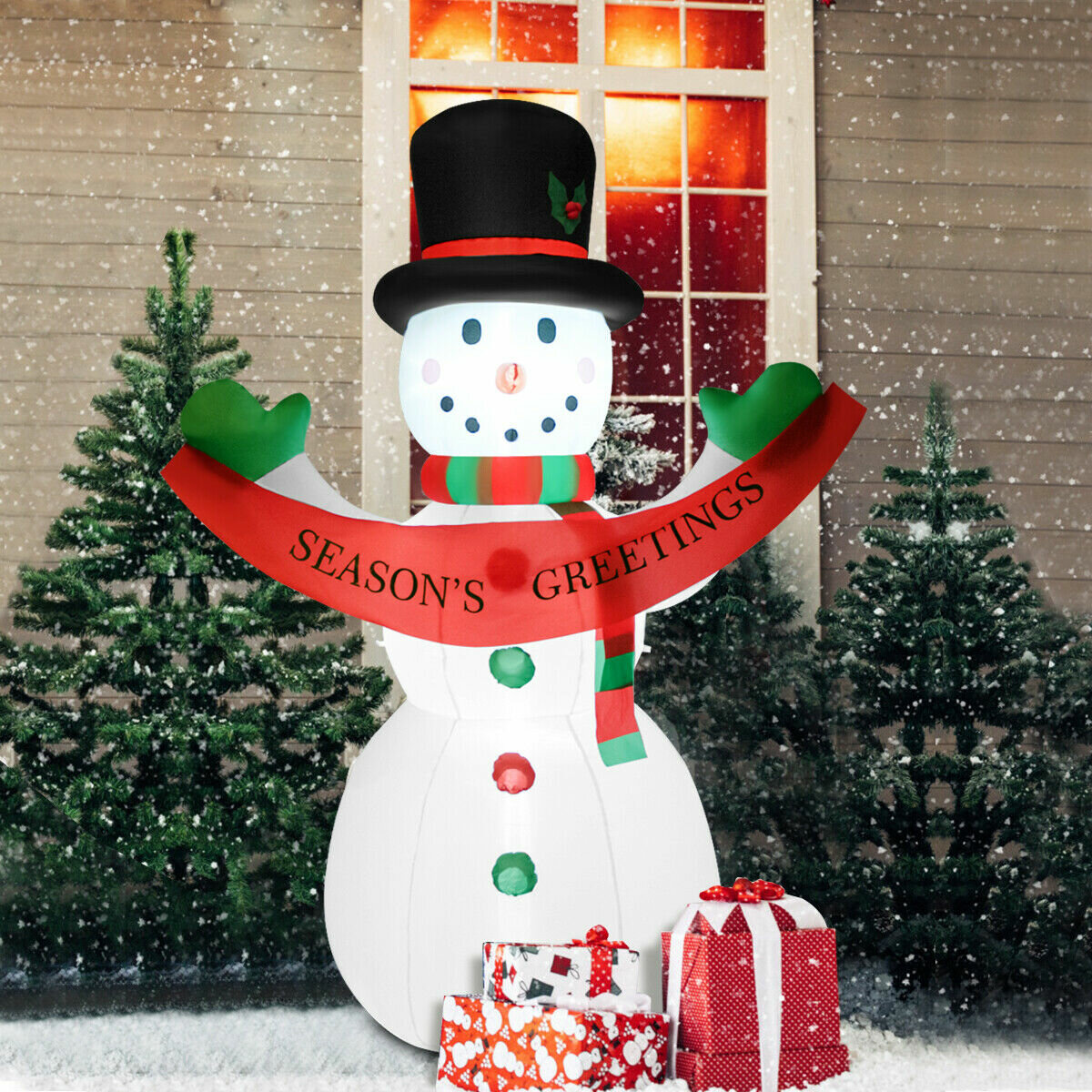LED Christmas Snowman Blow up Holiday Yard Lawn Party Inflatable
