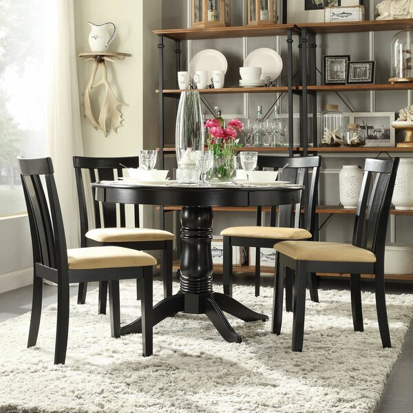 Oneill 5 Piece Slat Back Dining Set by Andover Mills