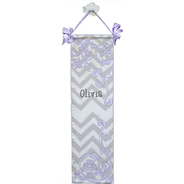Personalized Graceful Chevron Lavender Growth Chart by Renditions by Reesa