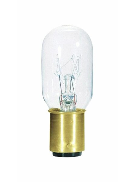 15W BA22d Dimmable Incandescent Edison Capsule Light Bulb by Westinghouse Lighting