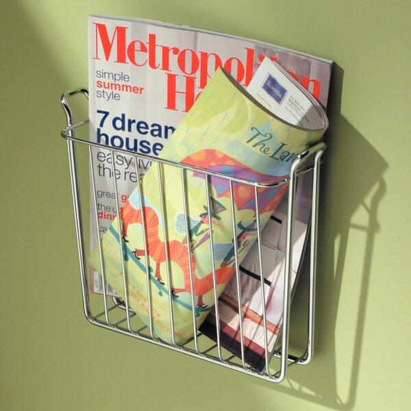 Espana Wallmount Newspaper Holder/Magazine Rack by Rebrilliant
