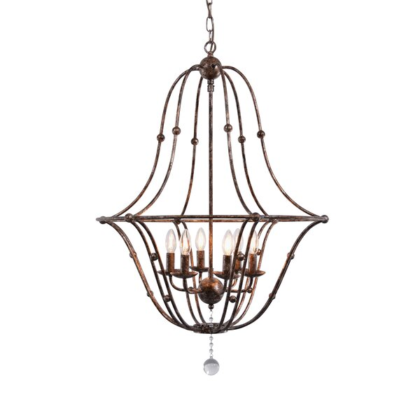 Norwich 6-Light Candle Style Empire Chandelier By Ophelia & Co.