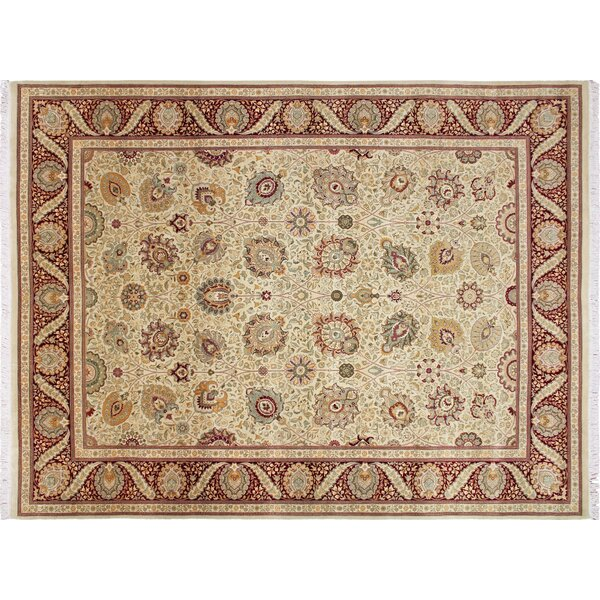 Pak-Persian Nahid Hand Knotted Wool Gold Area Rug by Noori Rug