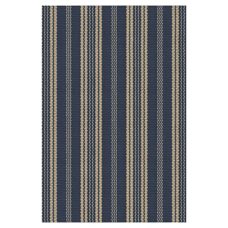 Hand Woven Navy Indoor/Outdoor Area Rug by Dash and Albert Rugs