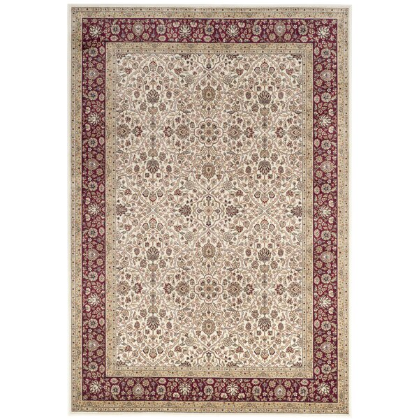 Carolus Ivory/Red Area Rug by Darby Home Co