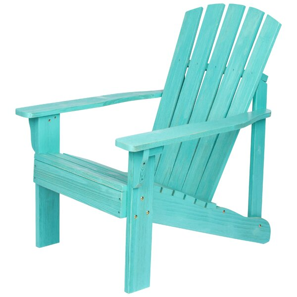Kristen Wood Adirondack Chair By Highland Dunes