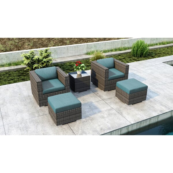 Gilleland 5 Piece Conversation Set with Sunbrella Cushion by Orren Ellis