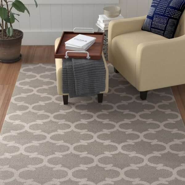 Ayles Gray & Ivory Area Rug by Winston Porter