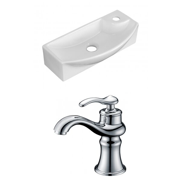 Ceramic 17.75 Wall Mount Bathroom Sink with Faucet by Royal Purple Bath Kitchen