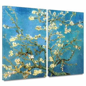 'Almond Blossom' by Vincent Van Gogh 2 Piece Painting Print on Wrapped Canvas Set by ArtWall