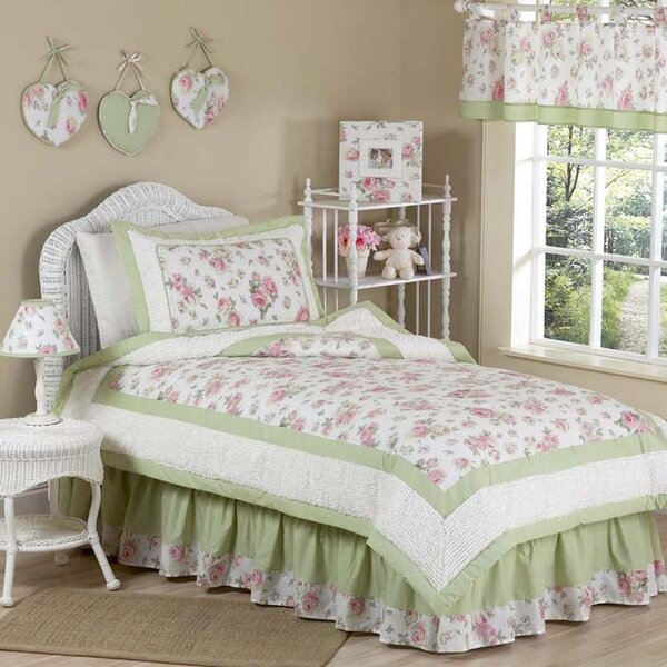 Rileys Roses Kid Twin Bedding Comforter Collection by Sweet Jojo Designs