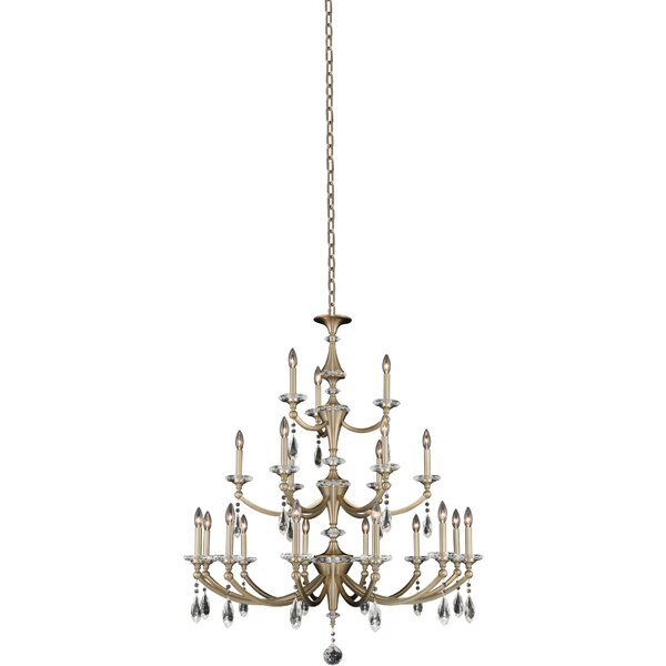 Garrick 21 - Light Candle Style Classic Chandelier By Rosdorf Park