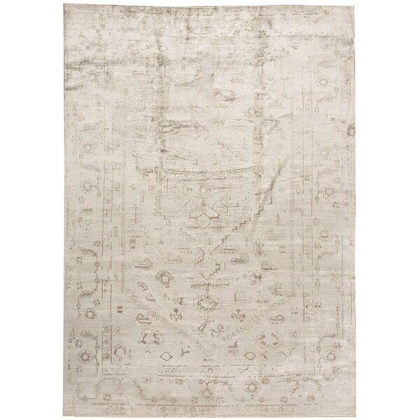 One-of-a-Kind Neo Villa Hand-Knotted Gray 10' x 13'9 Viscose Area Rug