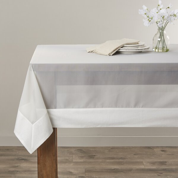 Sheer Elegance Tablecloth by Saro