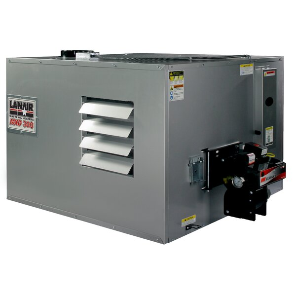 300,000 BTU Ceiling Mounted Forced Air Cabinet Heater With Wall Chimney By Lanair Products, LLC