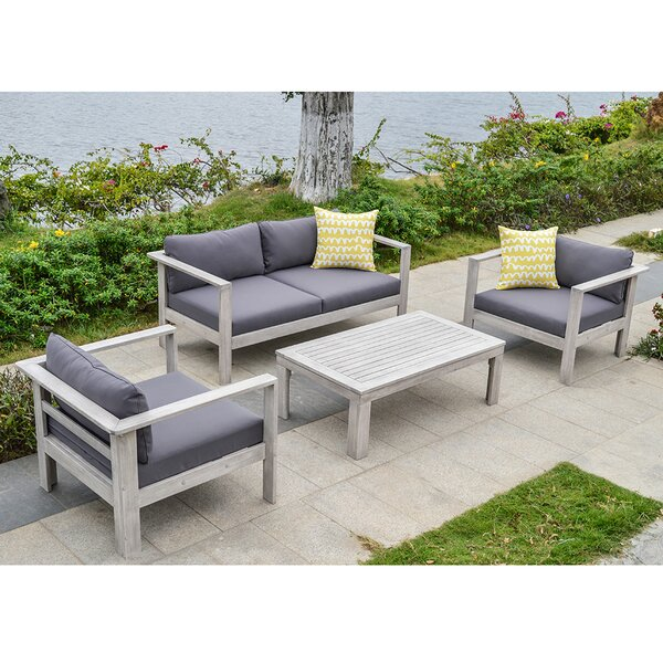 4 Piece Sofa Set with Cushions by Ove Decors